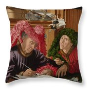 Two Tax Gatherers Throw Pillow