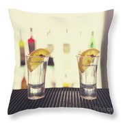 Two Tequilas Throw Pillow