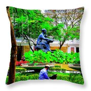 Two Thinkers Throw Pillow