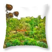 Two Thistles In The Garden Of The Simple Throw Pillow
