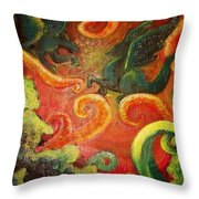 Two Tiny Dragons Throw Pillow