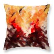Two To Tango Abstract Throw Pillow