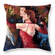 Two To Tango Throw Pillow