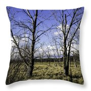 Two Trees Of Blue Throw Pillow