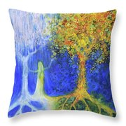 Two Trees Of Valinor Throw Pillow