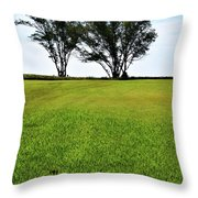 Two Trees On Meadow 15304 Throw Pillow