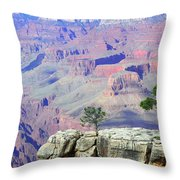 Two Tree Rock Throw Pillow