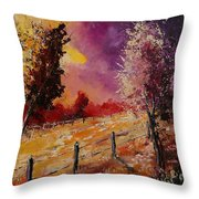 Two Trees Waiting For The Storm Throw Pillow