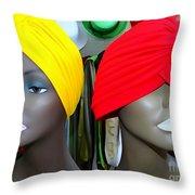 Two Turbans Throw Pillow