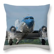 Two Turning - 2017 Christopher Buff, Www.aviationbuff.com Throw Pillow