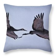 Two Under The Moon Throw Pillow