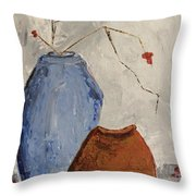 Two Vases Still Life Throw Pillow