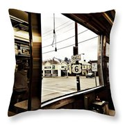 Two Views Inside The Orchid Diner Throw Pillow