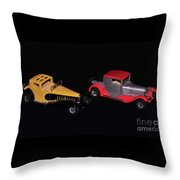 Two Vintage Cars Models  Throw Pillow