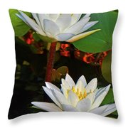 Two Water Lilies 004 Throw Pillow