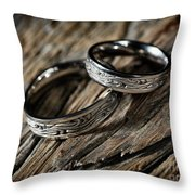 Two Wedding Rings With Celtic Design Throw Pillow
