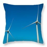 Two Wind Turbines Throw Pillow