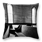 Two Window Church Throw Pillow