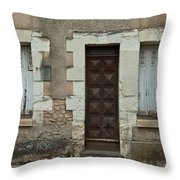 Two Windows And A Door Throw Pillow