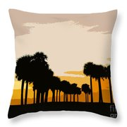 Two With The Palms Throw Pillow