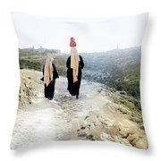 Two Women In 1920 Throw Pillow