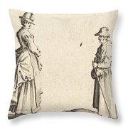 Two Women In Profile Throw Pillow