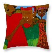 Two Women Throw Pillow