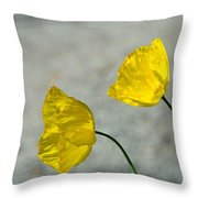 Two Yellow Blossoms Throw Pillow