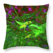 Two Yellow Frogs Throw Pillow