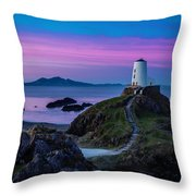 Twr Mawr, Anglesey Throw Pillow