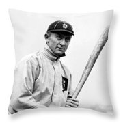 Ty Cobb - 1910 Throw Pillow