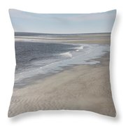 Tybee Island Beach Throw Pillow