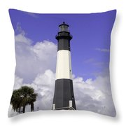 Tybee Island Lighthouse Throw Pillow
