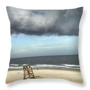Tybee Island Storm Throw Pillow