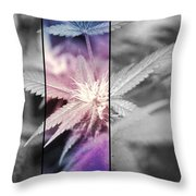 Tye-dye Bud Throw Pillow
