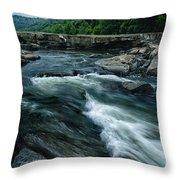 Tygart Valley River Throw Pillow