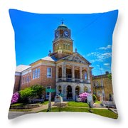 Tyler County Courthouse Throw Pillow
