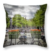 Typical Amsterdam Throw Pillow