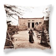 Typical House India Rajasthani Village 1f Throw Pillow