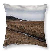 Typical Icelandic Mountain Landscape Throw Pillow