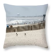 Typical Jersey Shore Afternoon Throw Pillow