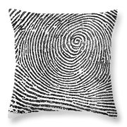 Typical Whorl Pattern In 1900 Throw Pillow
