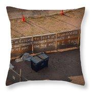 Typo Terrorist Throw Pillow