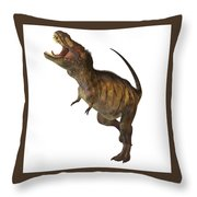 Tyrannosaurus Rex Profile Throw Pillow