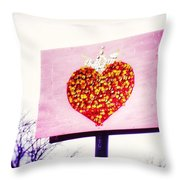 Tyson's Tacos Heart Throw Pillow