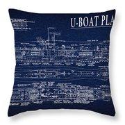 U-boat Submarine Plan Throw Pillow