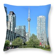 Toronto Towers From The Park Throw Pillow
