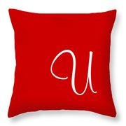 U In White Simple Script Throw Pillow