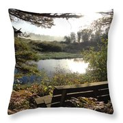 U R Here - On The Bench Throw Pillow