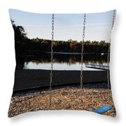 U R Here - On The Swings Throw Pillow